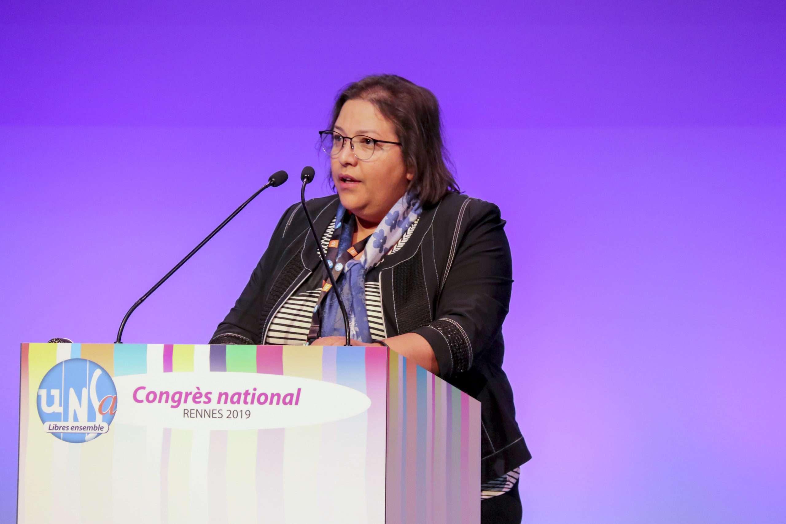 Fatiha Hiraki Secrétaire Générale UNSA fédération Commerces et Services